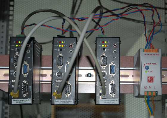the new NTP servers with their power supply
